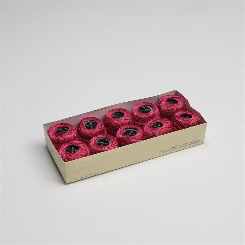 Размер 8 жемчужная хлопковая нить для вышивки крестиком 43 ярдов(5 грамм) на шарик Двойной Мерсеризованный длинный штапельный хлопок 10 шариков в цвет - Цвет: 702