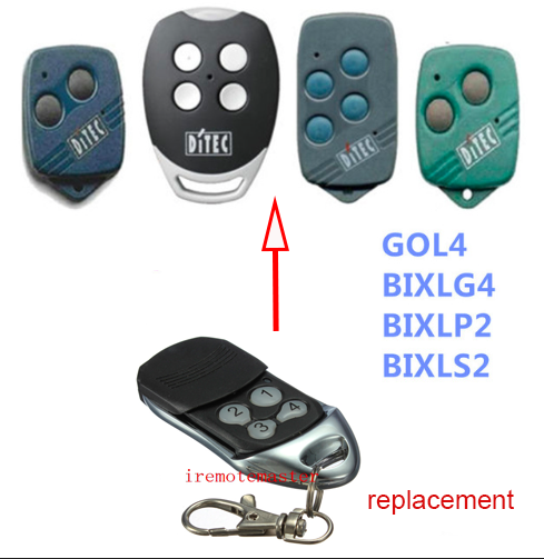 DITEC GOL4, BIXLG4, BIXLP2, BIXLS2 garage door replacement remote control free shipping