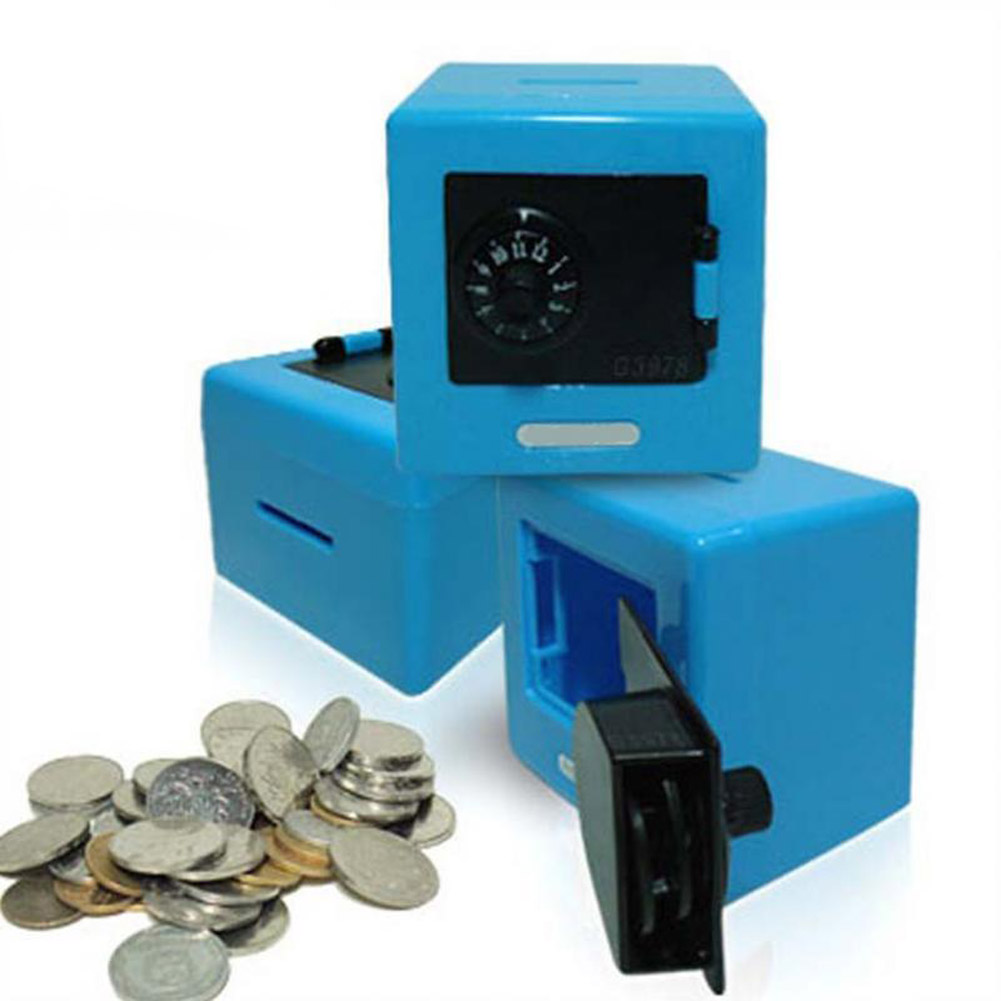 Creative Novelty Toys Simulation Mini Safe Box Safe Deposit Box Mini Piggy Bank Children Saving Box Plastic Crafts ...