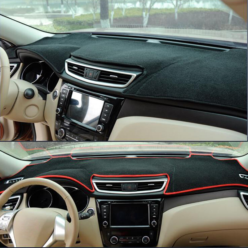 Jeep Compass 2016-2017 w// Auto Lights Carpet Dash Cover Mat Charcoal Grey
