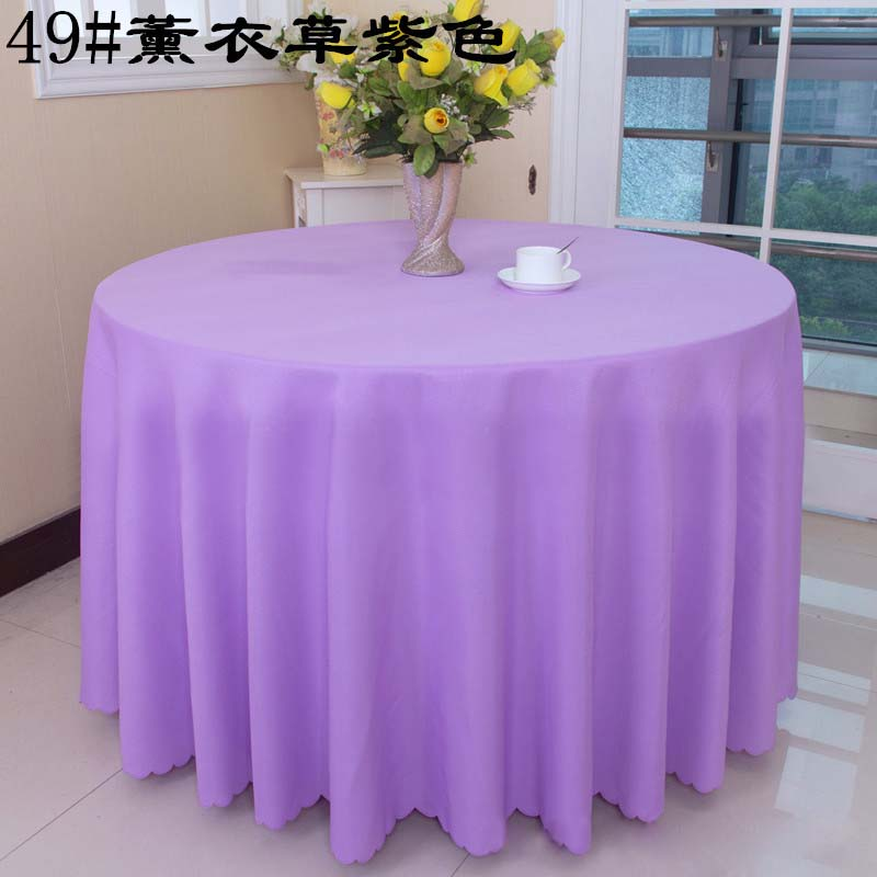 free shipping 10pcs lavender polyester round table covers wedding table cloths table linens for banquet event