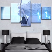 5 Panel Canvas Painting One Piece Moon Rabbit Anime Poster Paintings on Wall Art for Home Decorations Decor Artwork
