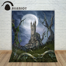 Vinyl photo studio Background Halloween Lawn of the Castle backdrop picture childrens photocall