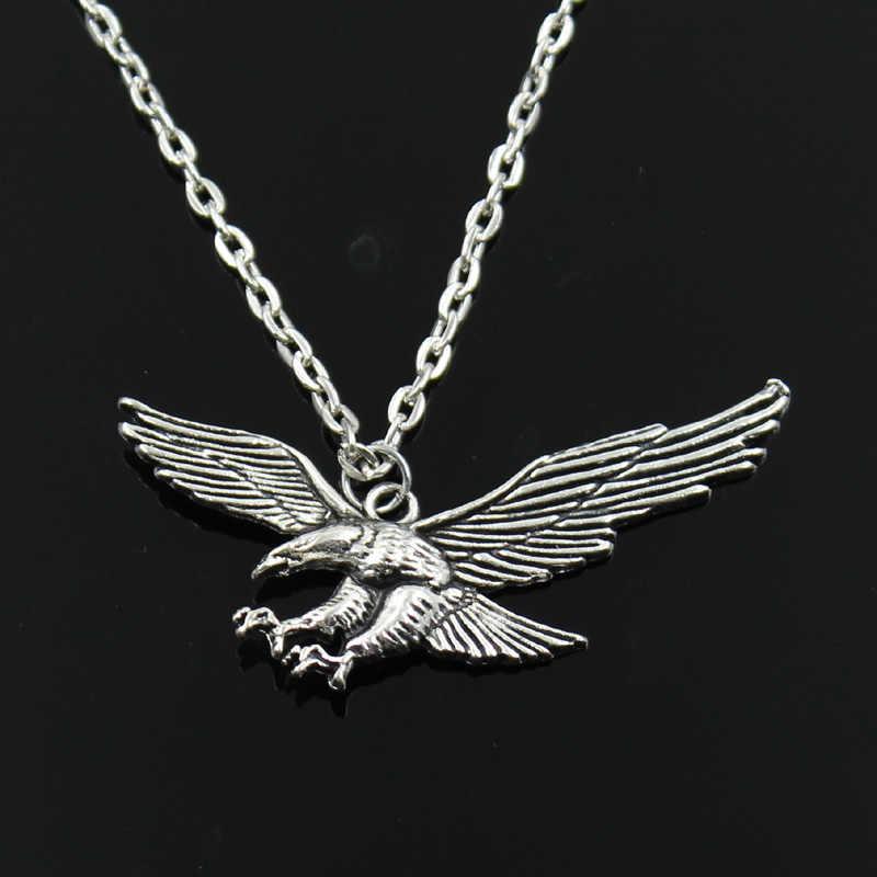 新ファッションホークイーグルペンダントラウンドクロスチェーンショートロングメンズレディースシルバーカラーのネックレスの宝石類のギフト