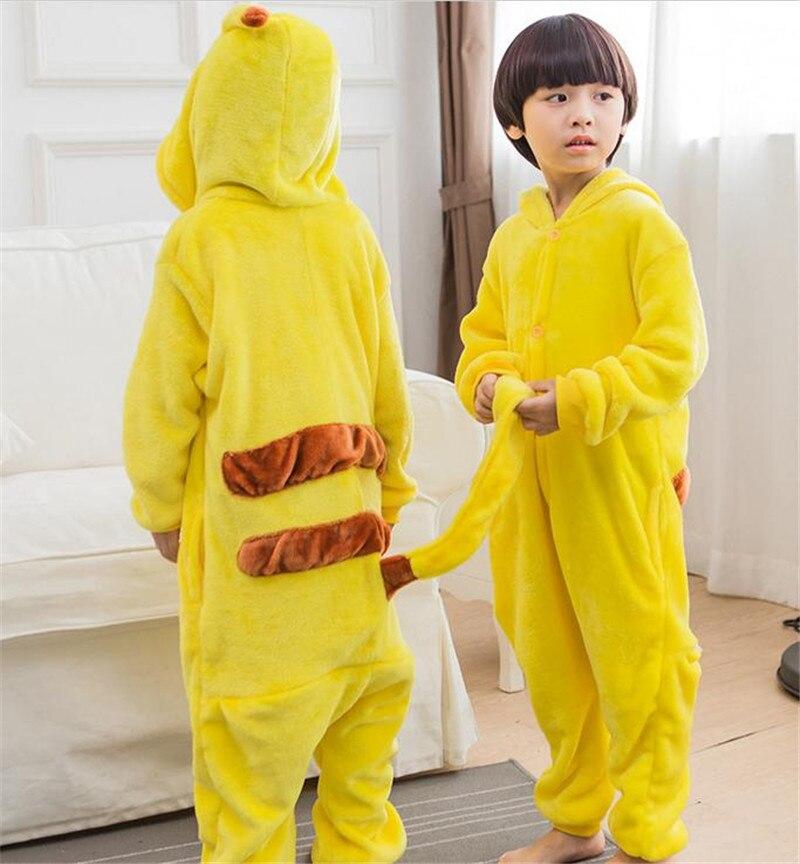 2016 Anime Pocket Monster Pokemon Go Costume Kids Pikachu Sleepwear Pajamas Pokemon for boys/girls Halloween cosplay pajamas