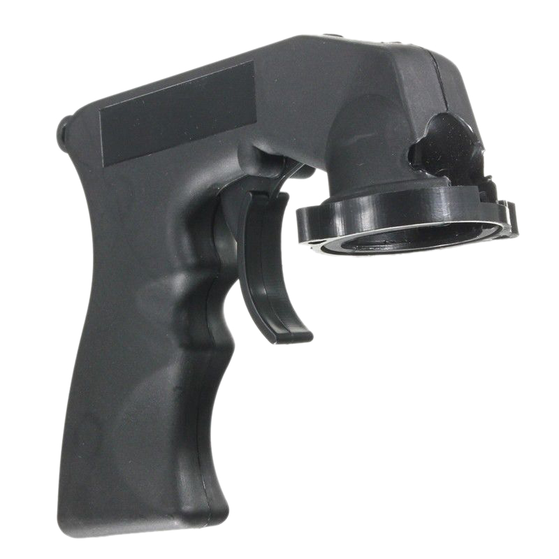 Professional Spray Adapter Aerosol Nozzle Handle With Full Grip Trigger Lock Collar Car Repair Paint Care Black Can Gun Aerosol