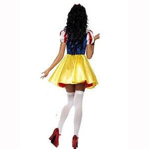 Image 2 - Женский костюм Белоснежки для взрослых, карнавальное платье для Хэллоуина, сказочное женское платье размера плюс, праздничная одежда