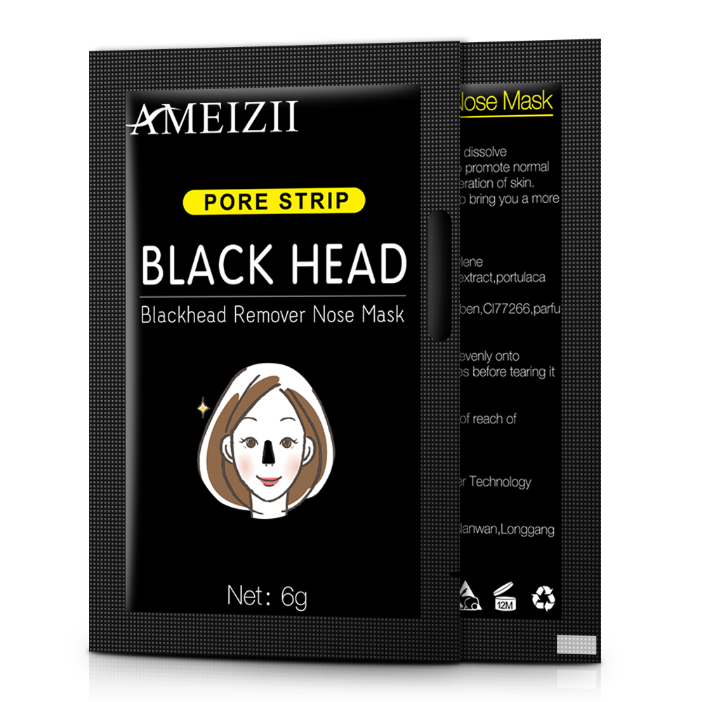 AMEIZII Blackhead Remover Facial Nose Repair Face Mask Purifying Bamboo Charcoal Black Mud Skin Care Oil Control Masks