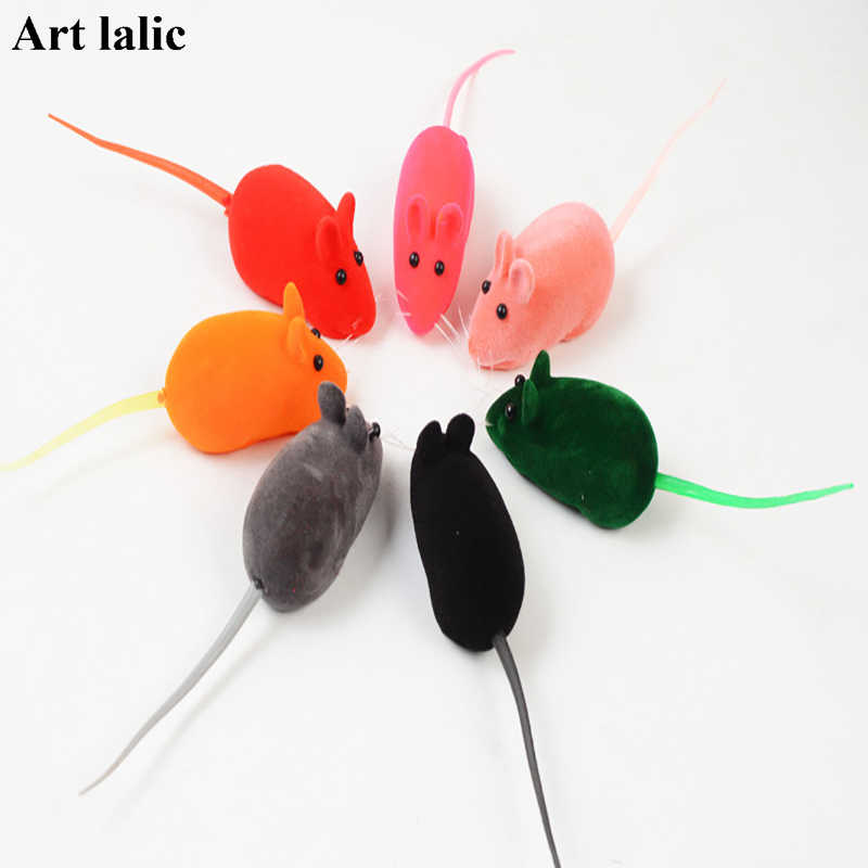 10Pcs Mouse Cat Toy Kitten Catching Toy False Mouse Rat Screaming Noise Sound Toys For Cats Dog Fun Hot Sales