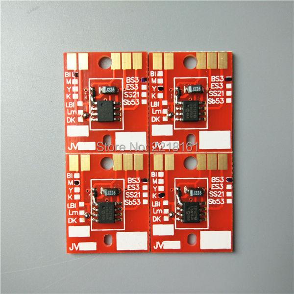Prix pour Livraison gratuite 4 couleurs éco-solvant traceur Mimaki Permanent puce/JV33 JV5 CJV30 cartouche d'encre puce BS3