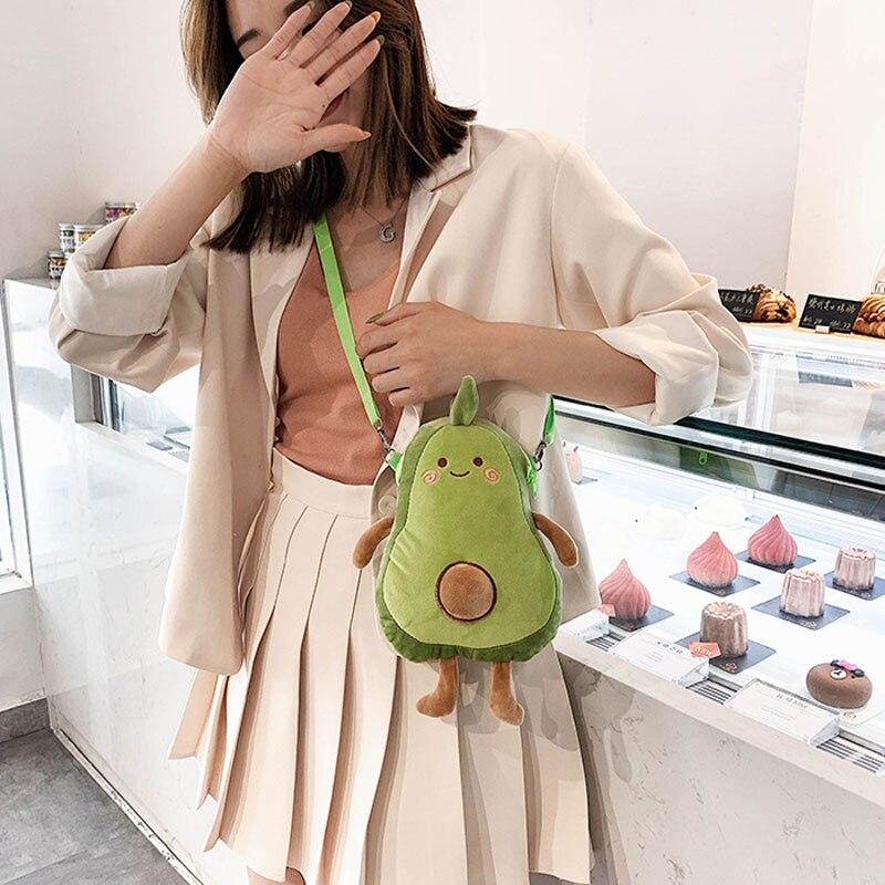 33cm Avocado Plush Toy Mulit Style Shoulder Bag Cartoon Fruits Soft Comfortable Doll Toys For Girls Boys