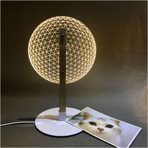 Image 4 - VIP Link 3D Effect Bloom Table Lamp Reading Novelty LED Night Light with  3D Optical Luminous Lampshades  Christmas Gift
