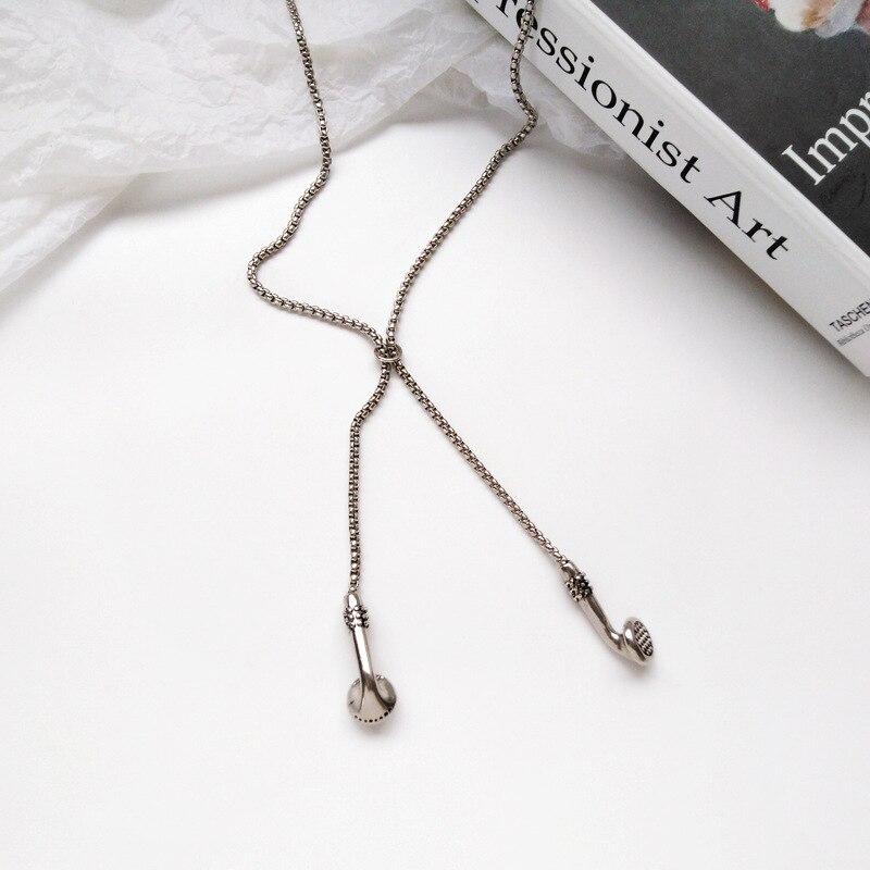 Metal hip hop street snap necklace headphone shape student fashion jewelry