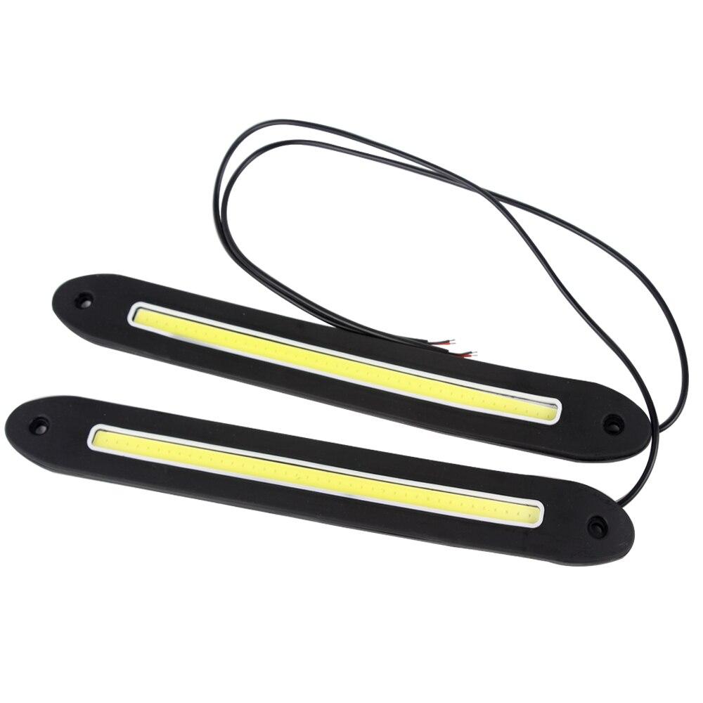 Внешние Автомобильные фары вождения лампы дневного света cob светодиодные огни автомобиля света Универсальный DRL автомобиль для укладки гибкий #iCarmo