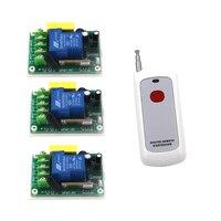 2 Working Ways RF Wireless Intelligent Remote Control Switch 1 Transmitter+3 Receiver AC220V 30A SKU: 5317