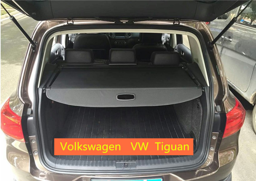 Rear Trunk Security Shield Cargo Cover For Volkswagen VW Tiguan 2010 2011 12 13 2014 2015 2016 2017 High Qualit Auto Accessories for volkswagen vw touran 2016 2017 2018 rear trunk security shield cargo cover high qualit auto accessories black beige grey