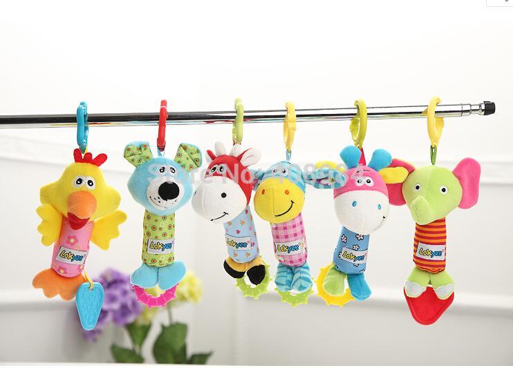 Bērnu rotaļlietas Rattle Hand Bell daudzfunkcionālās plīša - Mazuļu rotaļlietas
