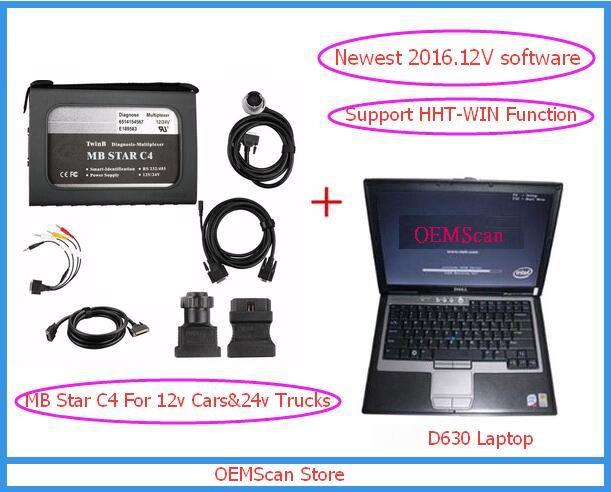 Treu 2017 Hohe Qualität Mb-stern C4 Für 24 V Lkw Mit Laptop De11 D630 & 201703 V Software Diagnose Scanner-xentry Schlüsselgenerator Als Geschenk Diversifiziert In Der Verpackung