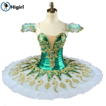 Shipping free! Green girl ballet  tutu Sleeping Beauty Ballerina Competition Professional Ballet Stage Costum BT9134G