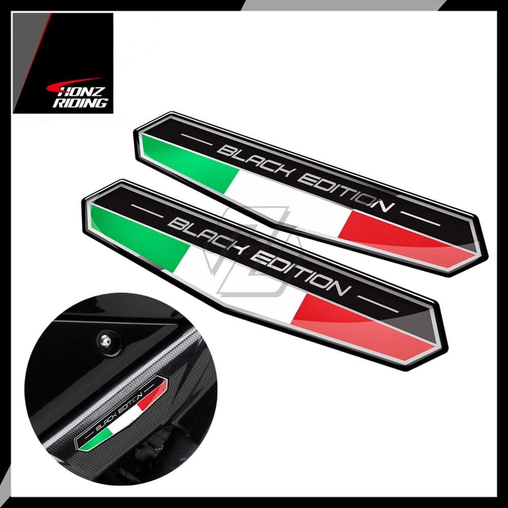 Itália Bandeira Adesivo Italia Edição Preto Decalque para Aprilia Ducati para Piaggio Vespa GTS150 GTS250 GTS300 GTV150 GTV250 GTV300