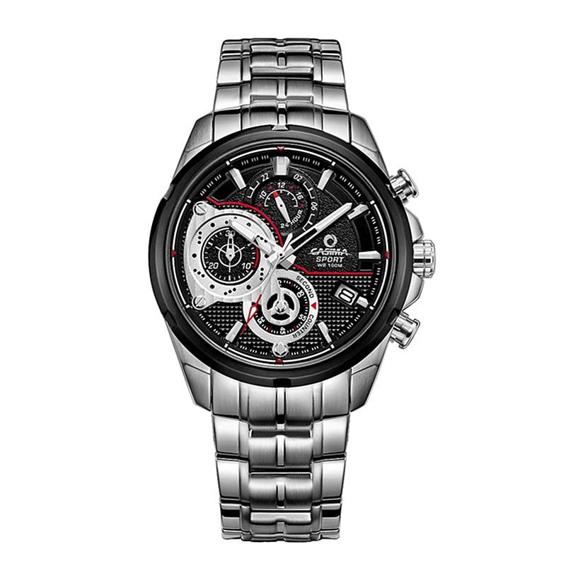 CASIMA Fashion mens Chronograph watches top brand luxury wrist watch Casual Sport Luminous Men Quartz watch relogio masculino цена и фото