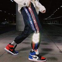 Side Reflective Strip Casual Cargo Joggers Pants Men Windbreak Hip Hop Men's Dance Pants Ins Hot Streetwear Muti Color trousers