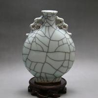 Forno oficial de abertura padrão frasco de crack antigo Jingdezhen porcelana antiga coleção de ornamentos retro do vintage