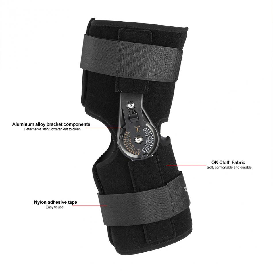 Oper Adjustable Medical Hinged Knee Joint Brace Support Orthosis Ligament Sport Injury Splint Knee Patella Fracture Protector