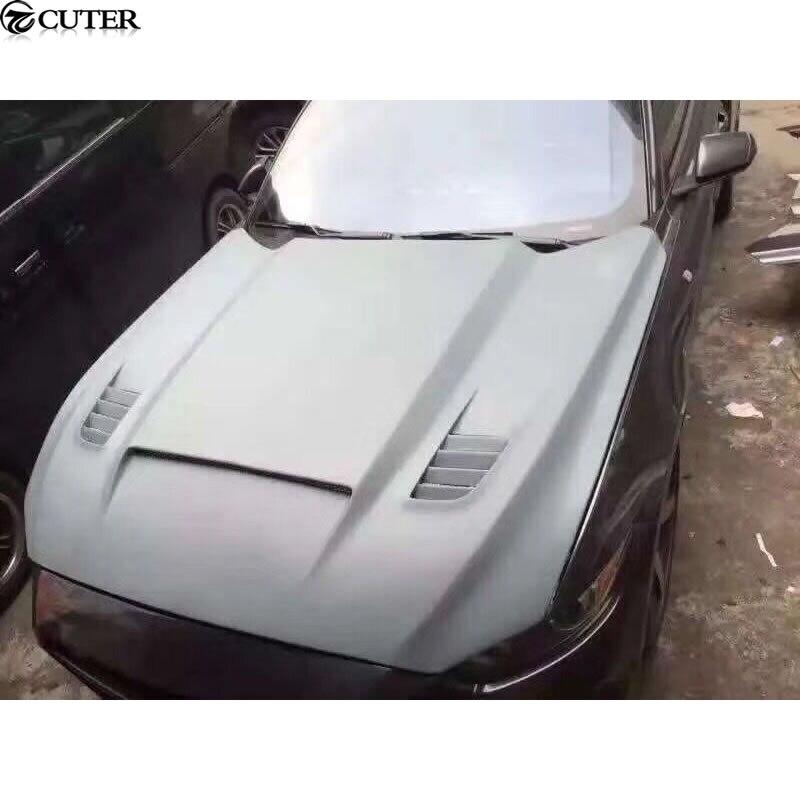 FRP capot moteur non peint kit carrosserie capot capot moteur pour Ford Mustang 15-17