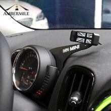 AMBERMILE автомобильный держатель мобильного телефона кронштейн Юнион Джек украшения для BMW Mini Cooper Countryman F60 автомобильные аксессуары для укладки