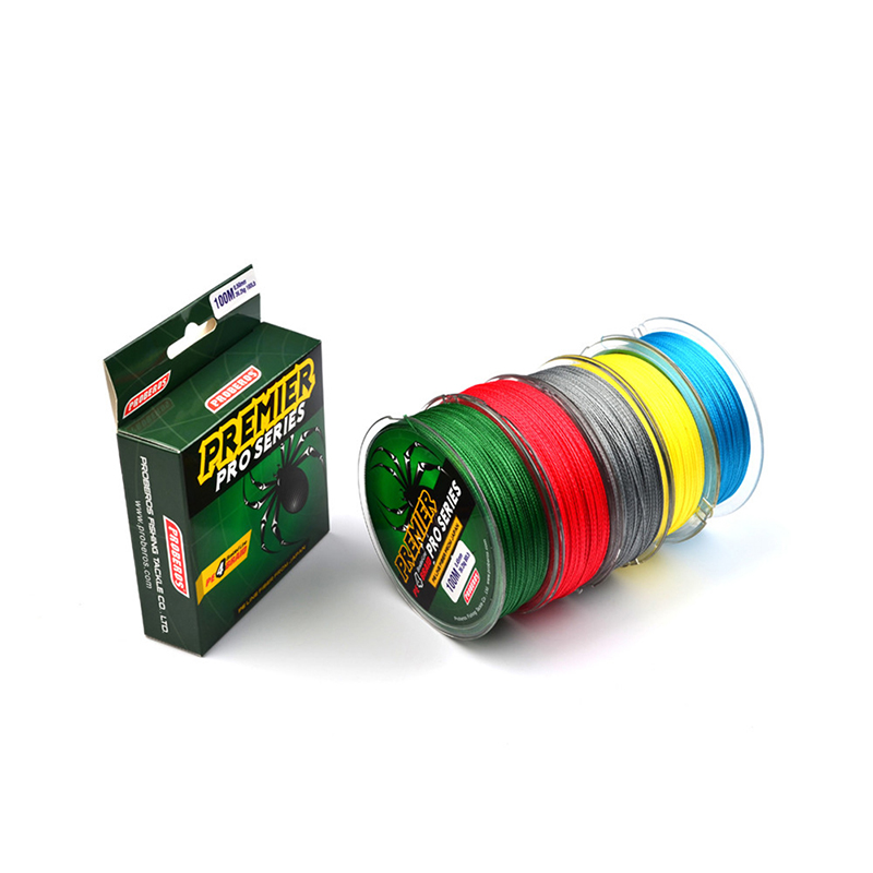 100 M Fishing Proberos Colorful  Line Red / Green / Gray / Yellow / Blue Braided Outdoor Entertainment Fishing tools