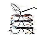 2 pçs/lote Homem Moda de Alta Qualidade Em aço Inoxidável + Handmake masculino óculos/óculos frame ótico de grande porte com caso embalagem