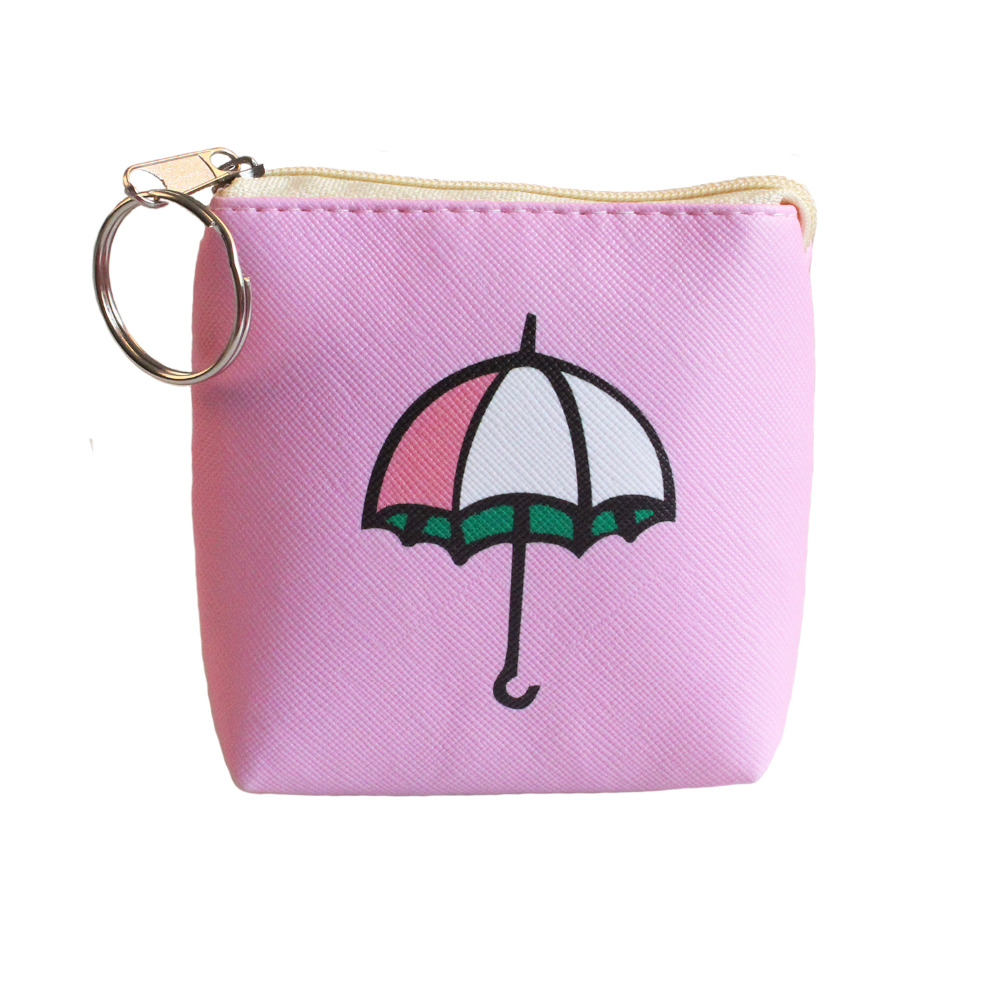 2017 new arrival lovely pu leather coin purses umbrella wallet child girl women change purse lady zero wallet coin bag coin purses creative big eyes pu leather coin purses child girl women change purse lady zero wallets coin bag free shipping