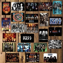[ WellCraft ] Rock Music Star Metal Sign Posters art Vintage Mural Painting Personality Custom Decor LT-1741
