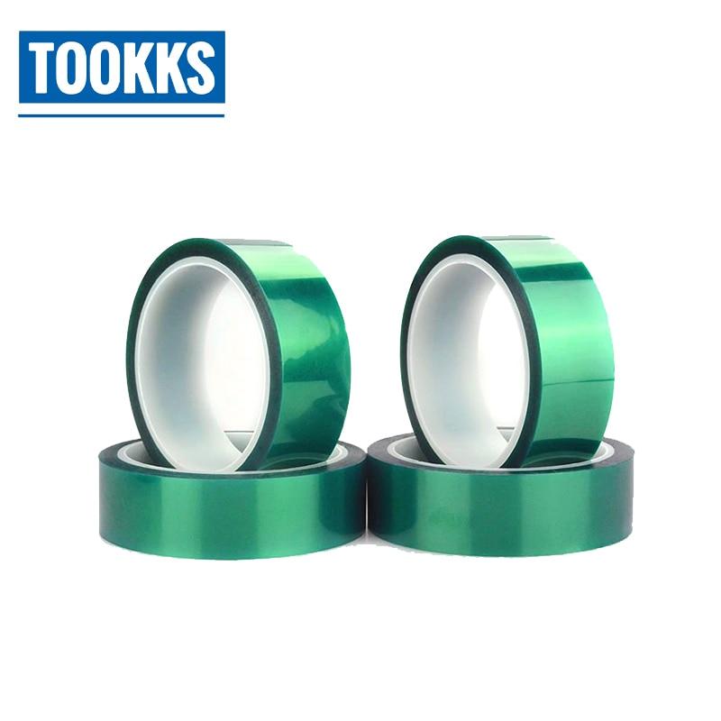 2pcs 8mm Width 33M Long Green PET High Temp Heat Resistant PCB Solder Tape