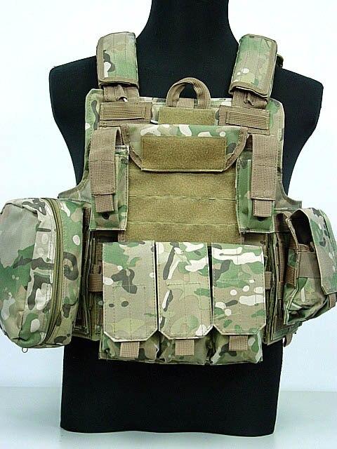 Gilet tactique militaire Molle CIRAS armée Airsoft Paintball gilet de Combat avec poche de Magazine + sac utilitaire gilet uniforme d'armure d'entraînement