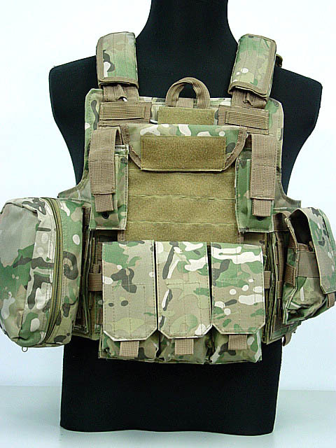 Molle CIRAS army military Tactical Vest Airsoft Paintball Combat Vest W/Magazine Pouch+Utility Bag Training Armor Uniform Vest military molle admin front vest ammo storage pouch magazine utility belt waist bag for hunting shooting paintball cf game