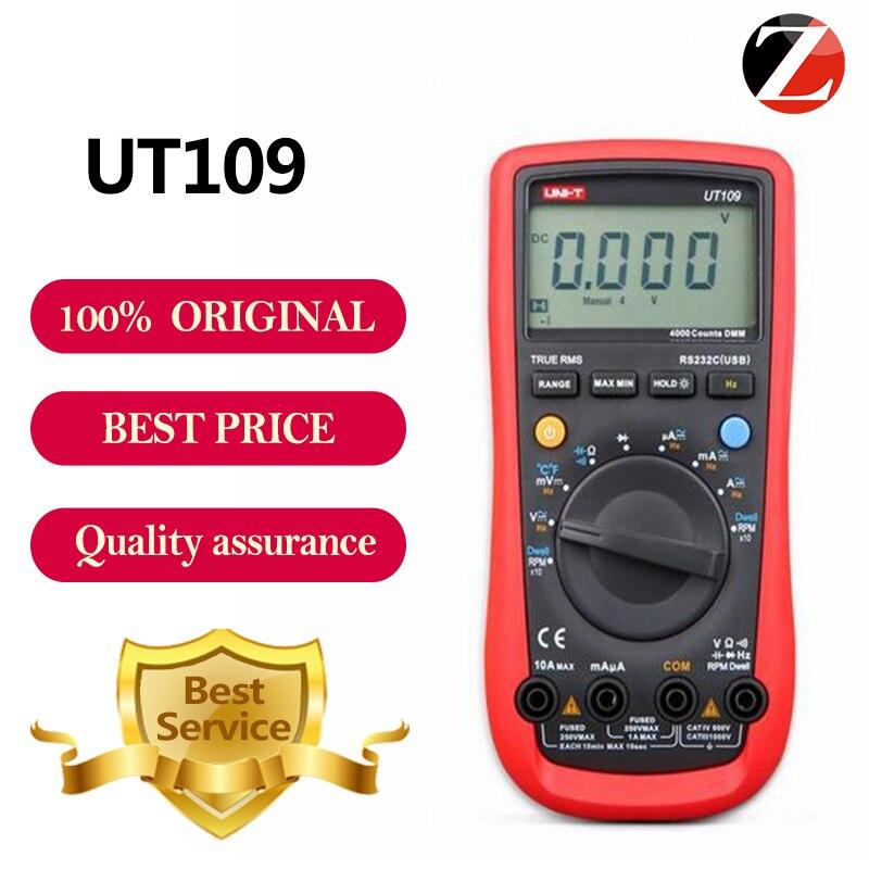 UNI T UT109 Handheld Automotive Multipurpose Meters UT109 Auto Range Multimeters USB PC Connect Dwell Tach