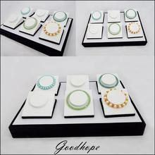 Supply Jewellery Store Countertop Bracelet Jewelry Display Tray Case Box 35*25*5cm with 6 Compartment Anklet Stand Holder Rack