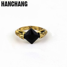 Hot Jewelry HP Horcrux Resurrection Stone Ring Fashion Movie Rings Vintage Ring Round Men Accessories