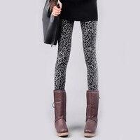 Speciale Aanbieding Leggings Mode Vrouwelijke Gebreide Europese Amerikaanse Stijl Tonen Slanke Luipaard Legging Dikke Warme Broek Vrouwen Leggins