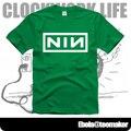Novo 2017 moda frete grátis NIN Nine Inch Nails casal roupas de verão homem homens macho T-shirt de manga curta-