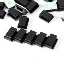 30pcs/pack Cable Mount Clamp Clip Self-adhesive Rectangle Wire Tie Clip Hot Selling