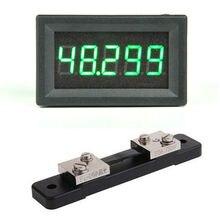 Amperímetro digital DC 0 50.000A 5Bit + shunt +  50A alta precisión amperio medidor de detección de corriente medidor de descarga de carga