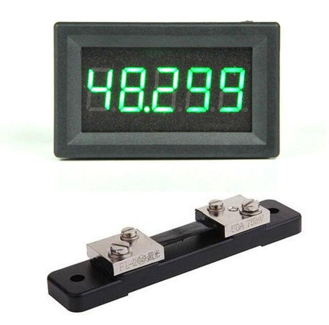 DC 0 50.000A digital ammeter 5Bit  + shunt +  50A high precision Amp Ampere Current detection Tester Meter Charging discharge