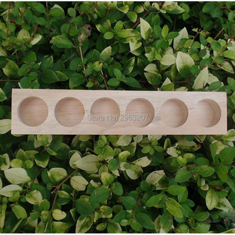 30 piezas de madera NATURAL aromaterapia aceite esencial de exhibición organizador de almacenamiento soporte para 6 piezas de botellas de 15 ml-in Soportes y estanterías de almacenamiento from Hogar y Mascotas    1