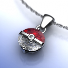 2019 New Silver Cute Pokemon Pokeball Pandent Long Chain Necklace Choker for Women Fashion Jewelry Pikachu