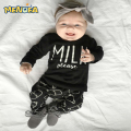 Menoea  Baby Girls Clothing Sets 2017 Autumn Baby Boy Clothes Suits Long Sleeve Letter Print T-shirt+Pants 2Pcs Newborn Sets