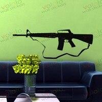 משלוח חינם חומר סיטונאי וקמעוני וול דקור pvc מדבקות קיר מדבקות טפט נשק אקדח c-148