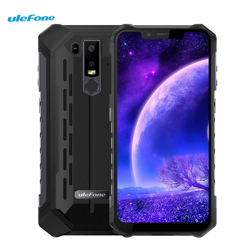 Ulefone IP68 Armadura 6 4G Smartphone 6.2 ''Android 8.1 os Helio P60 (MT6771) octa core-6 GB 128 GB 8MP Impressão Digital 5000 mAh Móvel